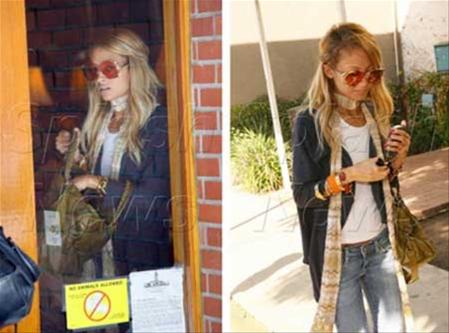 Los enormes lentes de Nicole Richie